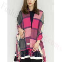 Cashmere Feel Scarf Hot Pink