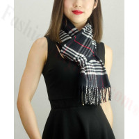 Woven Cashmere Feel Classic Scarf Black