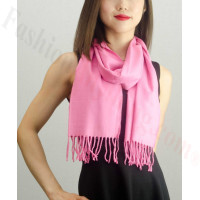 Solid Cashmere Feel Scarf Pink