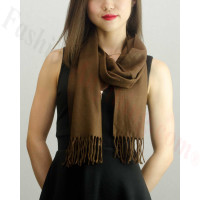 Solid Cashmere Feel Scarf Coffee