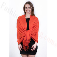 Silky Soft Solid Pashmina Scarf Orange Red (new color)