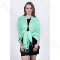 Silky Soft Solid Pashmina Scarf Tiffany Green NEW