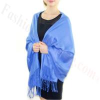 Silky Soft Pashmina Scarf Blue