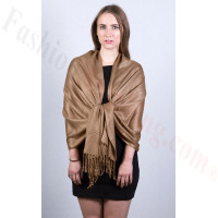 Carafe Brown Pashmina Scarf NEW