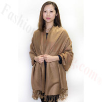 Silky Soft Solid Pashmina Scarf Iced Coffee