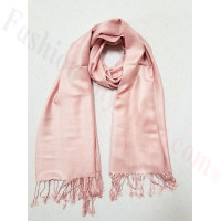 Silky Soft Solid Pashmina Scarf Dusty Pink