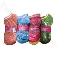 Women Mini Dots Low Cut Socks Dozen (12 Pairs) - Assorted Color