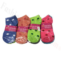 Women Strip & Dots Low Cut Socks DZ (12 Pairs) - Assorted Color