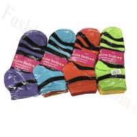 Women Strip Low Cut Socks DZ (12 Pairs) - Assorted Color