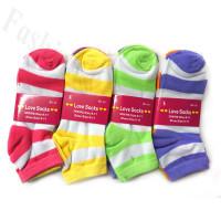 Women Strip Print Socks Dozen (12 Pairs) - Assorted Color