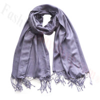 Silky Soft Solid Pashmina Scarf Crushed Grape