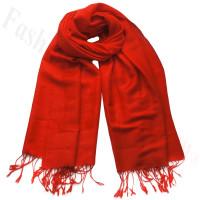 Paisley Jacquard Pashmina Red