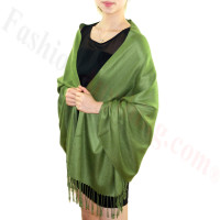 Silky Soft Solid Pashmina Scarf Olive Drab